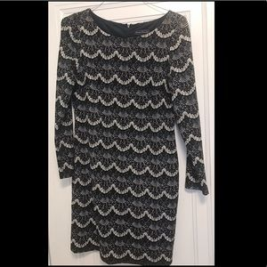 Jessica Howard Stretch Dress 10 Petite Long Sleeve